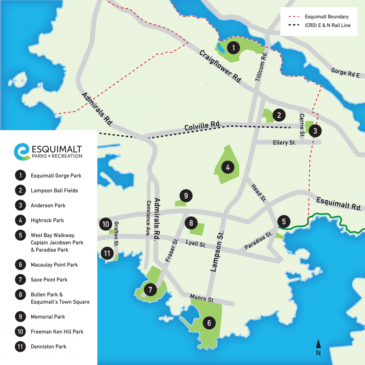 Esquimalt Parks Map
