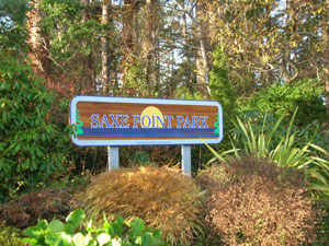Saxe Point Park Sign