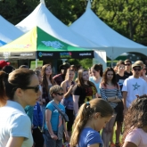 Students in Esquimalt gather to celebrate Earth day at Highrock Park.