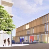 Rendering of new public safety building