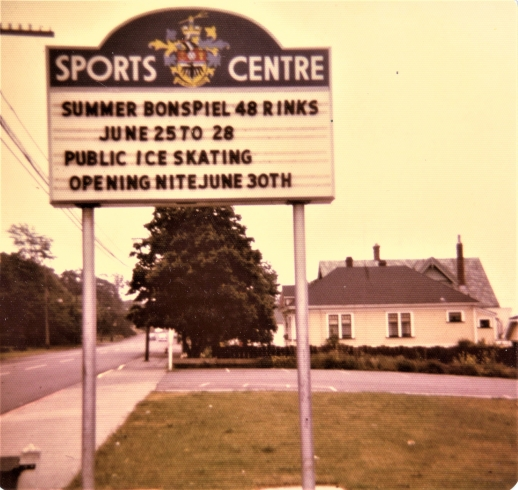 sports centre sign